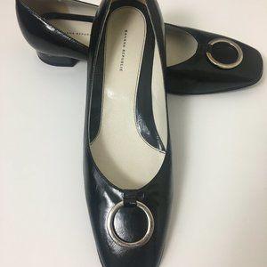 Banana Republic Black Patent Leather Flat SZ 9
